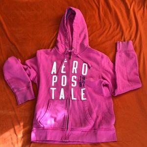Pink Aéropostale zipped hoodie